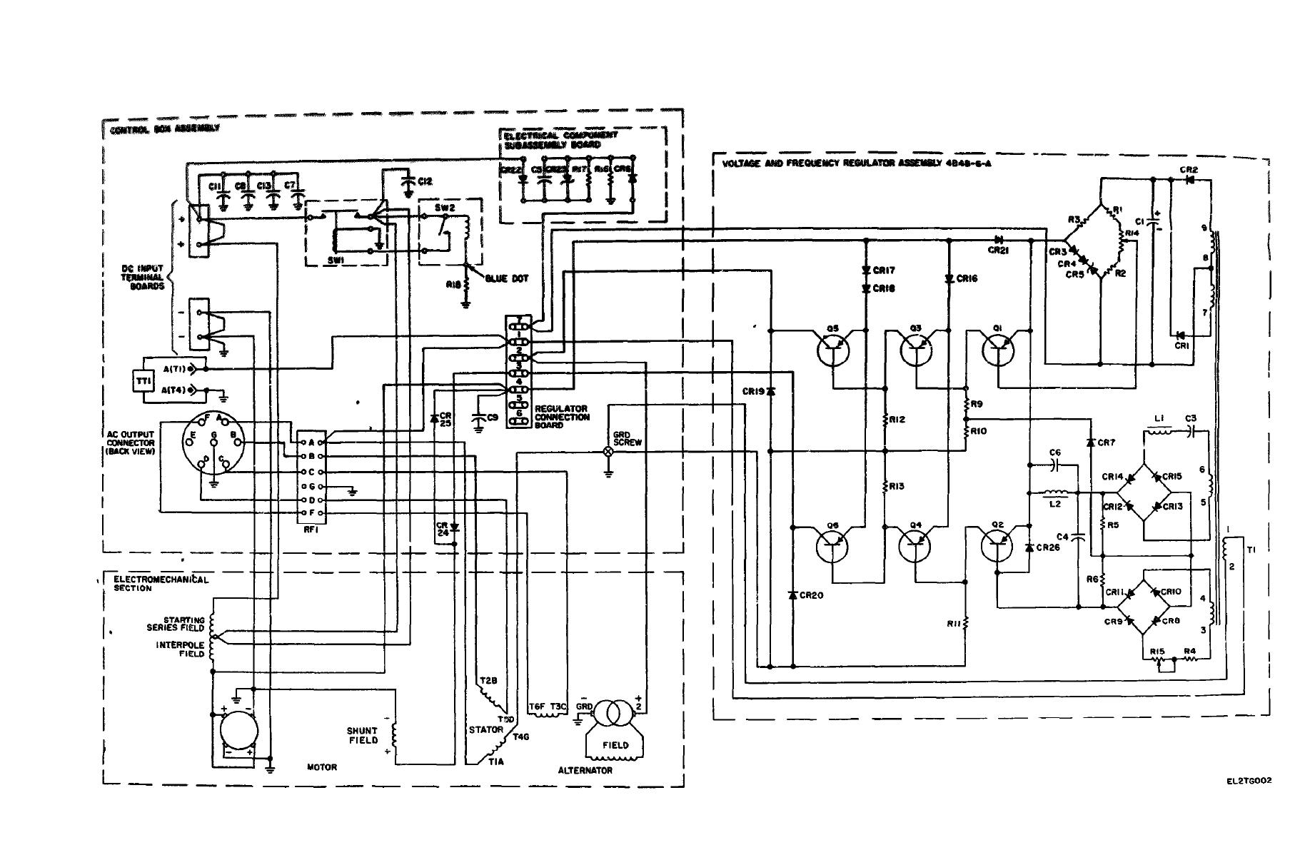 Figure Fo 2 Schematic Diagram For Motor Generator Pu 750 A Tm11 6125 256 34