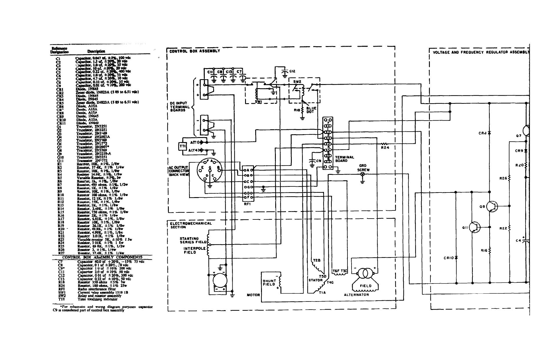 generator schematic diagram