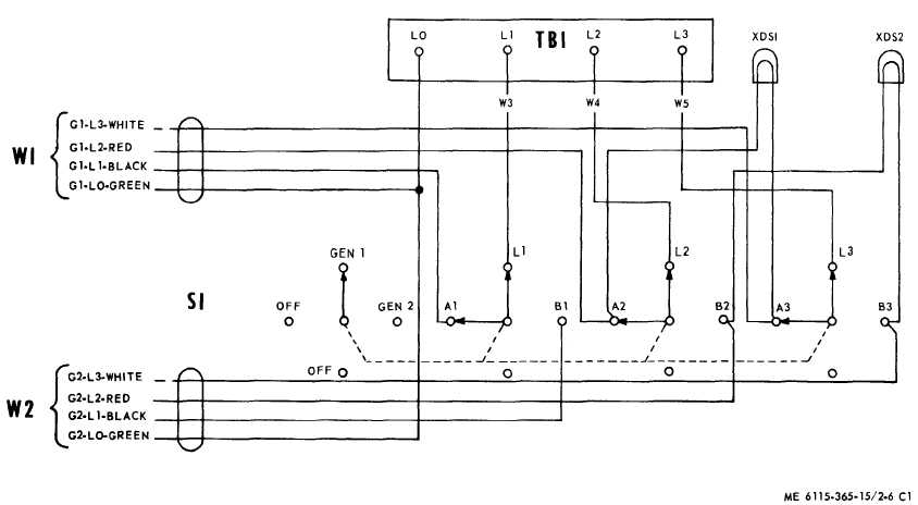TM 5 6115 365 15_72_1 figure 3 6 transfer switch wiring diagram wiring diagram for a transfer switch at nearapp.co