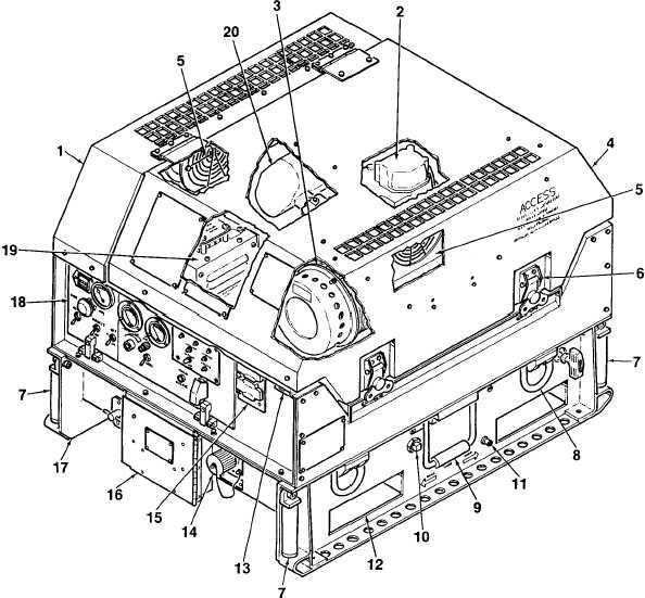 Figure 1 2 Location Of Generator Set Components
