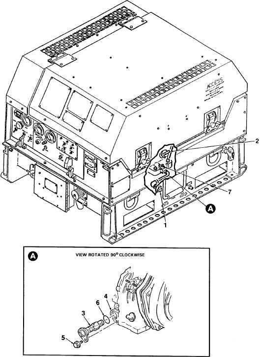 figure 4-1  engine oil servicing
