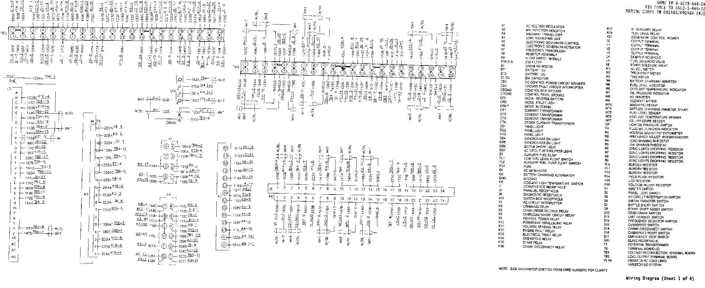 fo-2  wiring diagram  sheet 1 of 4