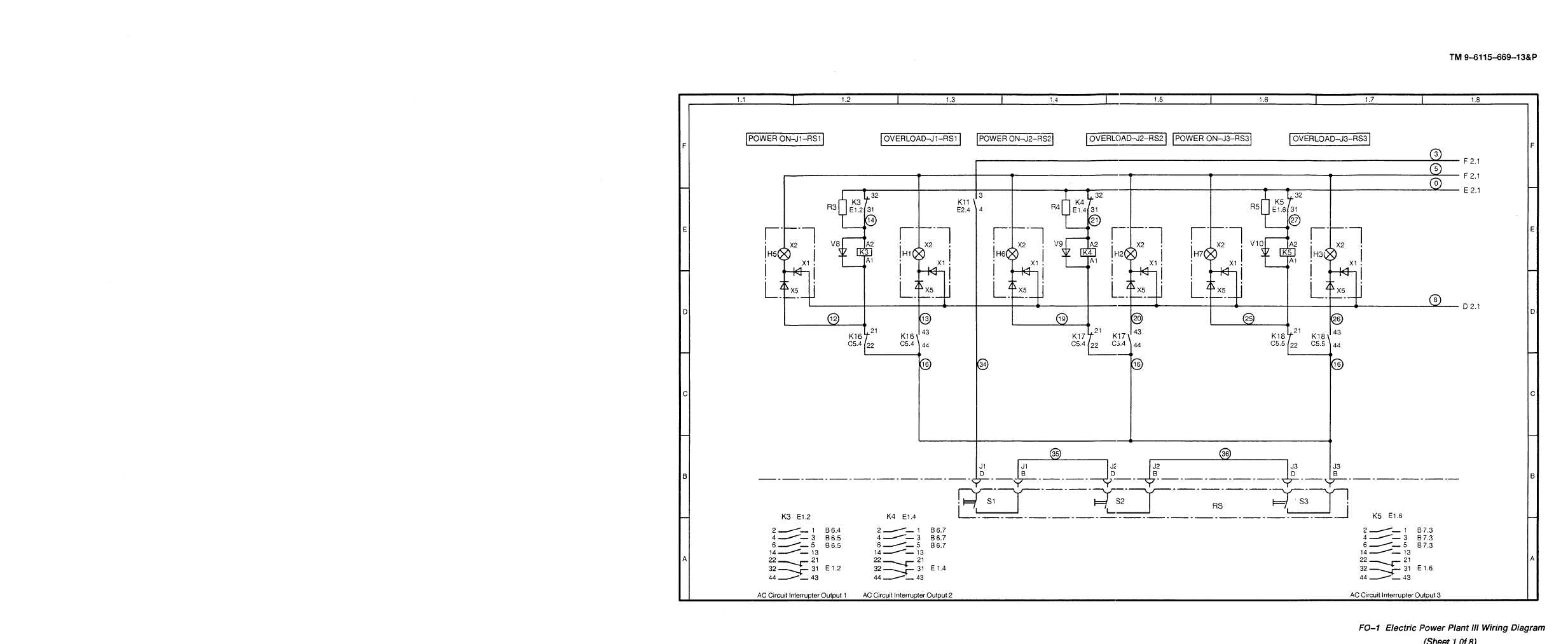 Fo 1 Electric Power Plant Iii Wiring Diagram Diesel Generator Tm 9 6115 669 13p Set Engine Driven Skid Mounted 150 Kw 400 Hz Alternating Current Manual Page Navigation
