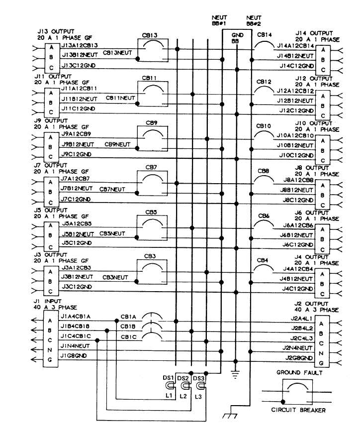 TM 9 6150 226 13_134_1 figure 4 3 m40 distribution center wiring diagram wiring a load center diagram at creativeand.co