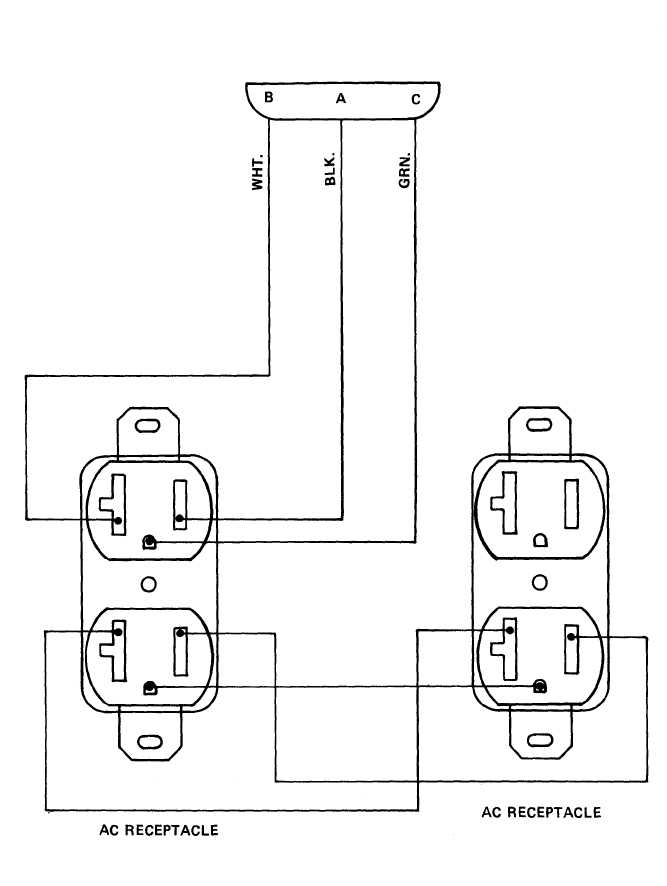 TM 9 6150 226 13_140_1 figure 4 9 duplex receptacle wiring diagram how to wire a double outlet diagram at panicattacktreatment.co