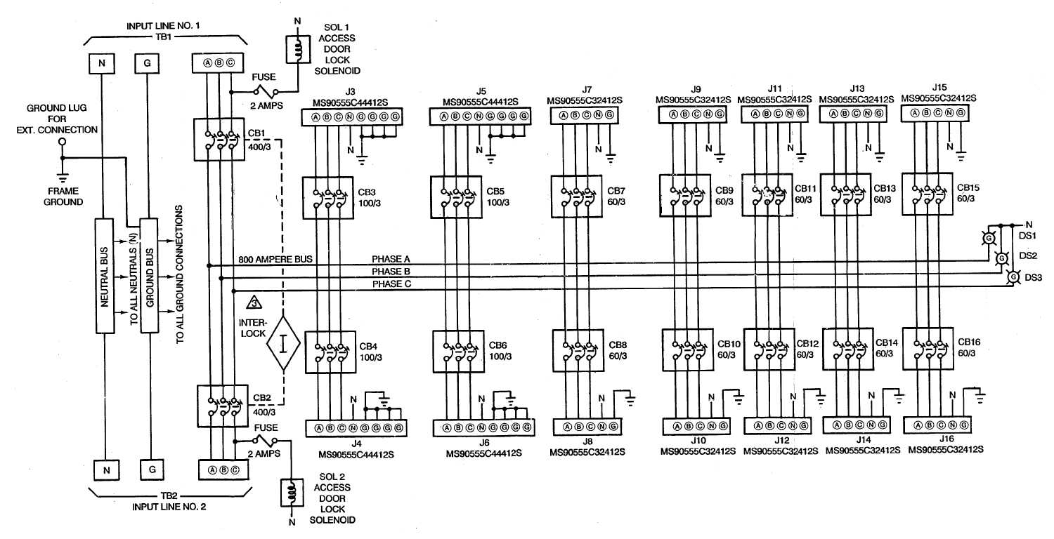 figure fo 1 power distribution panel schematic diagram